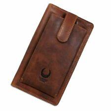 Leder Reisebrieftasche RFID Organizer Vintage XXL Geldbörse Travel Wallet Mappe