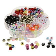 480 Pieces Acrylic Number Alphabet A-Z Beads for Bracelets Necklaces Making