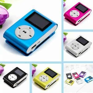 Portable USB Mini Clip MP3 Player LCD Screen Stereo Mp3 Music Player Candy Color