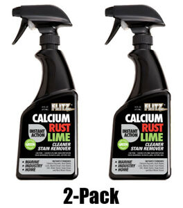 FLITZ Instant Calcium Lime and Rust Remover 16oz/473ml TWO PACK (SEE VIDEO)