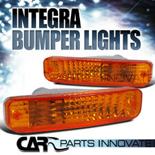 Acura 90-91 Integra LS RS GS Front Bumper Turn Signal Lights Lamp Amber