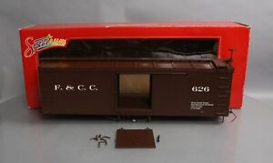 Bachmann 88697 G Florence & Crip Double-Sheathed Wood Boxcar w/Murphy Roof/Box