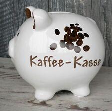 Sparschwein Kaffeekasse Keramik weiß Geldgeschenk Spardose Kaffee Trinkgeld NEU