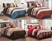 Rustic Southwest Aztec Native Comforter Set - 7 Piece Set