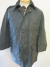 "Barbour A205 Border Waxed jacket - S 34"" Euro 44 in Blue"