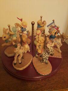 Cherrished teddies Merry Go Round Figures