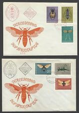 Bulgaria #1332-7 1964 Insects set of 6 on 2 FDC