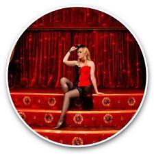 2 x Vinyl Stickers 30cm - Cabaret Dancer Stage Show Girl  #44494