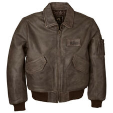 Alpha Industries - Flight Jacket CWU 45/P - Leather Bomber - Brown Size XL-NWT