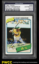 1980 Topps Rickey Henderson ROOKIE RC AUTO #482 PSA/DNA AUTH (PWCC)