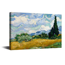 """Wheatfield With Cypress Vincent Van Gogh HD Canvas Art Print Oil Painting 12x16"""""""