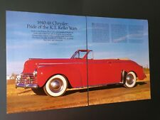 Chrysler 1940-1948 The K.T. Keller Years  Original 15 Page Article Free Shipping