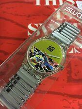 VINTAGE Swatch GENT Flex Band Strap GK219 Movie NEWS  New In Box 1996
