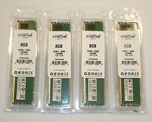 Crucial , 32 Go (4x8) DDR4 2666 , UDIMM ,1.2V CL19 ,  Non ECC , Neuf