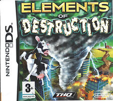 ELEMENTS OF DESTRUCTION for Nintendo DS NDS - with box & manual
