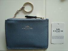 COACH F11836 DUSK Leather MINI SKINNY ID CASE Wallet Coin Purse Key Chain NEW