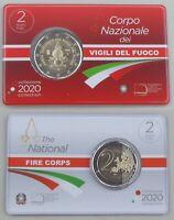 2 Euro Italien 2020 80 Jahre Feuerwehr in Coincard st / bu