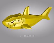 Animal Building Blocks Shark Fish Models Toys Mini Figures Kid Boy Birthday Gift