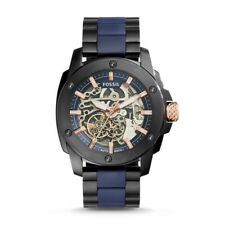 Fossil ME3133 Men's Automatic Watch Black Stainless Steel/Blue Silicon strap