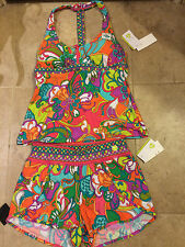 NWT Trina Turk Recreation Jungle Flower Multicolor Athletic Set S