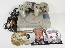 Lot console sony PLAYSTATION 1 + manettes + jeux TOMB RAIDER f1 pack PS1 PSX #06