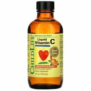 ChildLife Essentials, Liquid Vitamin C Orange Flavor 118.5 ml Kids Vitamin C