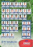 MAXI - Autogrammkarte - Schalke 04 - Alle Spieler 11/12