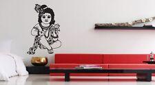 Wall Vinyl Sticker Decal Mural Design Art Hindu Girl Culture Of India Cute #957