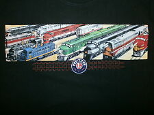 LIONEL TRAINS T SHIRT Model Railroad Engine Toy Locomotive Santa Fe Chessie Ohio