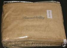 Peacock Alley Plush 65% Egyptian Cotton 35% Acrylic Camel Natural Queen Blanket