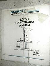Nissan/Barrett RCOS-1 MAINTENANCE SERVICE SHOP REPAIR MANUAL FORK LIFT TRUCK