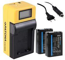 Patona LCD Ladegerät USB + 2x Blumax Akku 1030mAh f. Sony NP-FW50 NEX SLT ALPHA