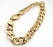 "16 Grams 11mm 8.5"" Mens 10k Yellow Real Gold XL Cuban Miami Curb Bracelet"