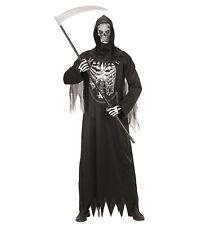 Herren Kostüm Sensenmann mit Kette + Maske  Halloween Dark Verkleidung