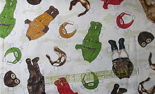 Aviation PaperDolls Airplane paper doll cut out cotton fabric vtg apparel BTHY
