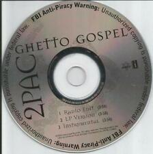 2Pac: Ghetto Gospel PROMO MUSIC AUDIO CD Edit LP Instrumental 11344 God hip hop