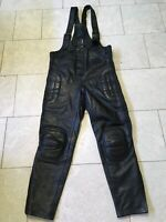 MODEKA Latzhose Gr.48 Motorradhose HD Lederhose Latzlederhose Wie NEU!