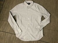 Bonobos Adult Mens Medium Slim Fit Button Down Shirt Long Sleeve Gray