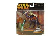 Star Wars Revenge Of The Sith Yoda On Can-Cell Fly Into Battle Action Figure NIB