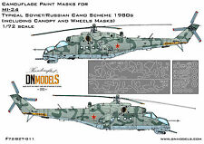 Paint Mask Mil Mi-24 Soviet/Russian Camo 1980 Canopy Camouflage 1/72 DN Models