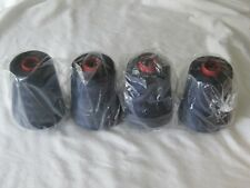 New 4 Large Spools 24,000 Total Yards Blue Sewing 3 Cord T40 Thread Super Fasdye