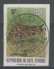 COTE D'IVOIRE:  n°701B oblitéré - variété NON DENTELE - !!!