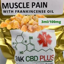 100 mg CBD 24 KT GOLD  Pain Relief Coconut Oil Salve w Frankincense Oil-NO THC