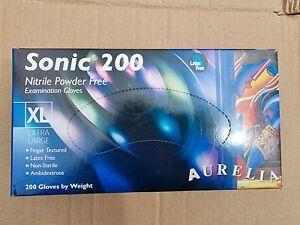 AURELIA Sonic 200 Medical Grade Disposable Nitrile Gloves, Extra Large