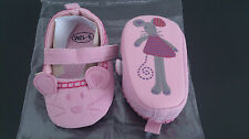 Chaussons fille petite souris 6-12 mois rose NEUF