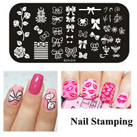 Free Shippng Small Size Manicure Art Gel UV Polish Nail Varnish Stamp Template