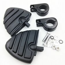 "1 1/4"" Wing Footpegs mount P Clamps for SUZUKI VL125 VL250 VZ1500 C800 C1800RT"