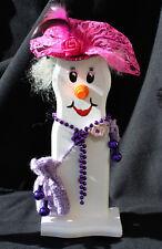 """Schneemann  Weihnachtsdeko Figur Herbstdeko Künstlerfigur """"Lady Snowman"""""""
