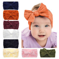 Kids Hair Bow Baby Girls Headband Newborn Rabbit ears Toddler Elastic Hairb I2