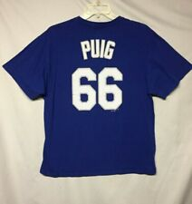 MLB Los Angeles Dodgers Yasiel Puig Majestic T-Shirt Size XL